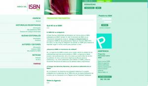 Página principal de la agencia española del ISBN